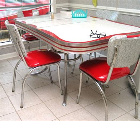 50 s chrome formica dinette set flickr photo