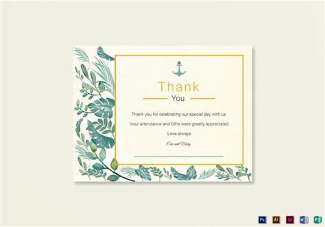 nautical postcard template nautical thank you card template in psd word publisher