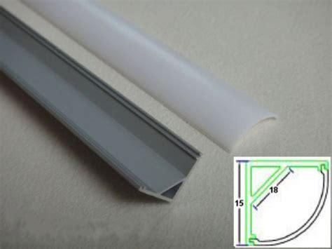 led aluminium profil ecke rund slim  mattcover opal