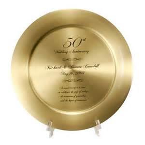 50th wedding anniversary gift 50th anniversary solid brass keepsake plate