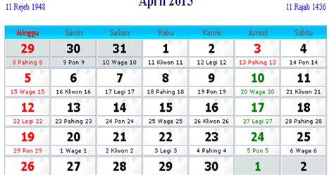 kalender indonesia april  kalender indonesia