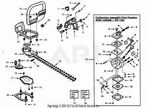 Poulan Tf22g Hedgetrimmer Parts Diagram For Carburetor