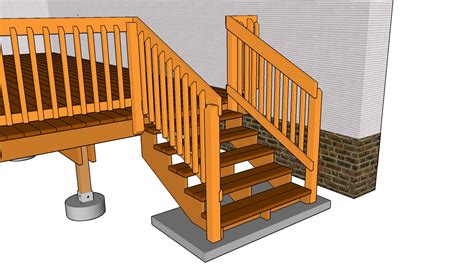 deck stairs plans myoutdoorplans  woodworking plans  projects diy shed wooden