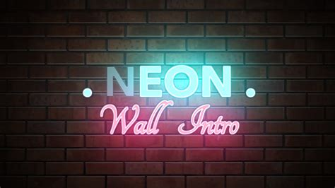 neon wall title