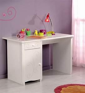 Bureau alice blanc brillant blanc for Suspension chambre enfant avec matelas mousse ou memoire de forme