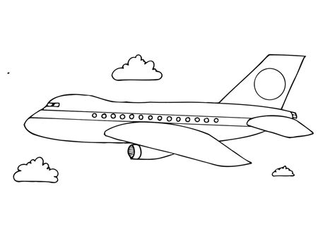 free printable airplane coloring pages for