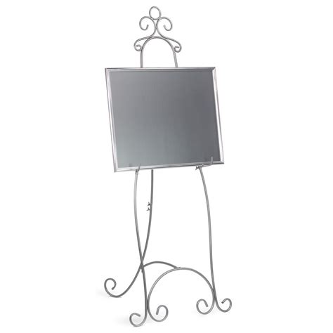 ft heavy duty black metal easel  display med