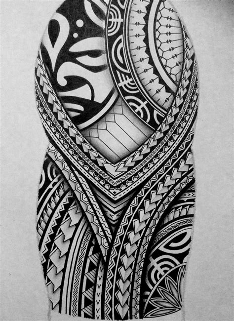 I created a Polynesian half sleeve tattoo design for my brother, displaying many of the typical