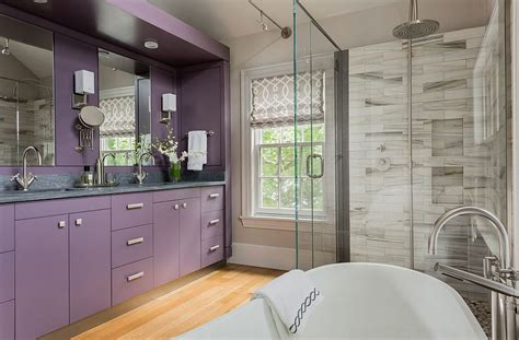 Purple Bathroom Vanity by 23 Amazing Purple Bathroom Ideas Photos Inspirations