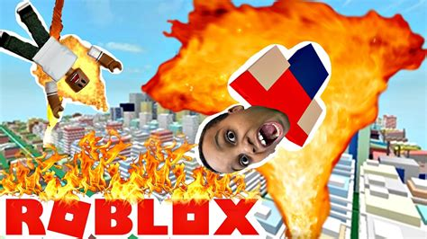 FIRE TORNADO! - Roblox - YouTube