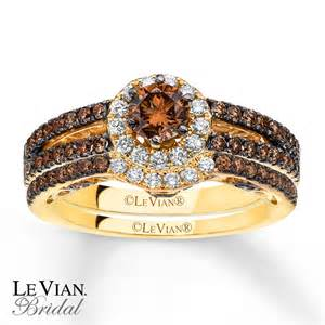 chocolate diamonds wedding rings levian chocolate diamonds 1 1 3 ct tw bridal set 14k gold