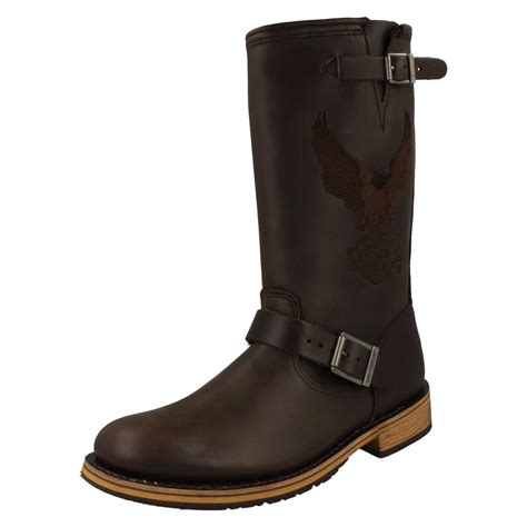 mens leather motorcycle boots mens harley davidson leather motorcycle biker style boots