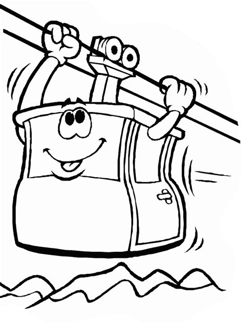 Tram Kleurplaat by Tram Transportation Coloring Pages Coloring Book