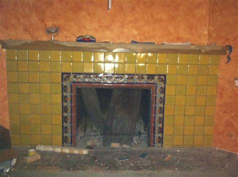Mexican Tile in a Fireplace, Mexican Home Decor Gallery