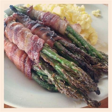 bacon wrapped asparagus images  pinterest