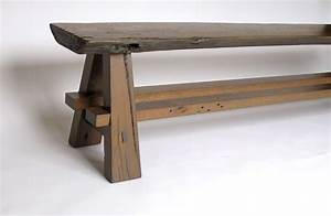 Custom Rustic Bench Made With Reclaimed Barnwood And Oak