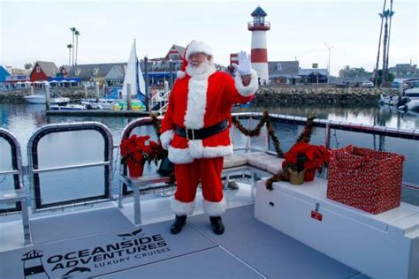 Boat Ride With Santa by Spend The Holidays In Oceanside Visit Oceanside