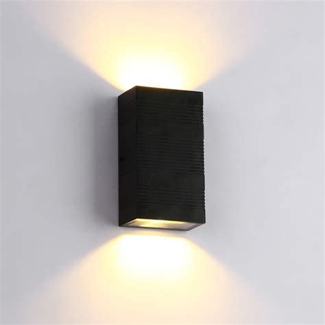 led wall sconce modern led wall light up cube indoor outdoor sconce