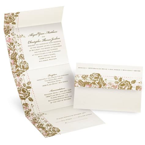 faded floral seal  send invitation invitations  dawn