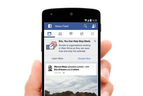 Facebook Donate Button: Users Fight Ebola from the News ...