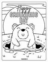 Groundhog Coloring Pages Dogman Printables Happy Preschoolers Dog Adorable Spring Whitesbelfast sketch template