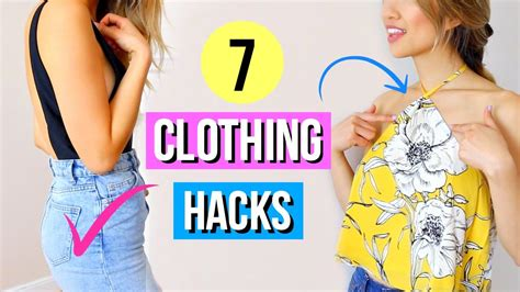 7 Simple Clothing Hacks Every Girl Must Know! Youtube