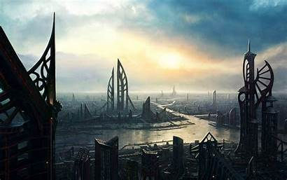 Futuristic Desktop Future Wallpapers Backgrounds Cities Moving
