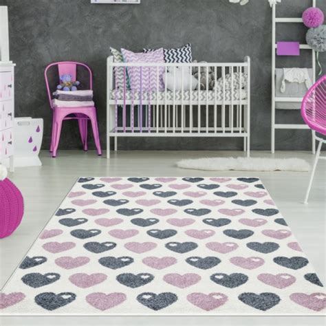kinderzimmer teppich rosa kinderzimmer teppich herzen rosa grau teppich4kids