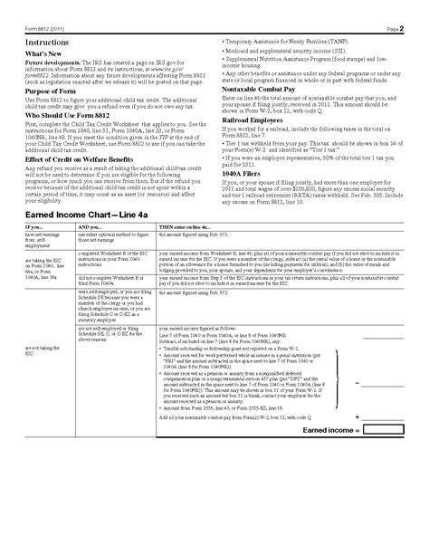 irs 8812 form form 8812 additional child tax credit