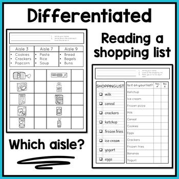 life skills worksheets  special education  autism
