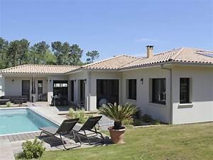une belle villa igc aux lignes epurees grand jardin avec With good modele de maison en l 7 de maison neuve moderne construction
