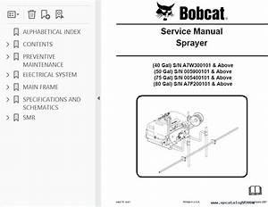 Bobcat 40  50  75  80 Sprayers Service Manual Pdf