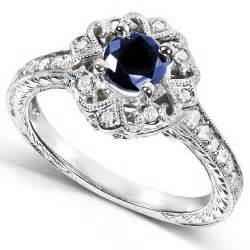 sapphire engagement ring 1 carat antique sapphire and engagement ring jewelocean