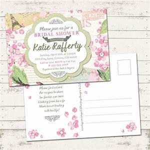 valerie pullam designs bridal shower invitation shabby With shabby chic wedding shower invitations