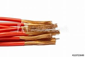 U0026quot Flexible Cooper Wire With Red Insulation Isolated On A White Background With Space For Text