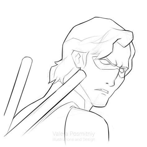 nightwing coloring pages nightwing sketches drawings sketch coloring page