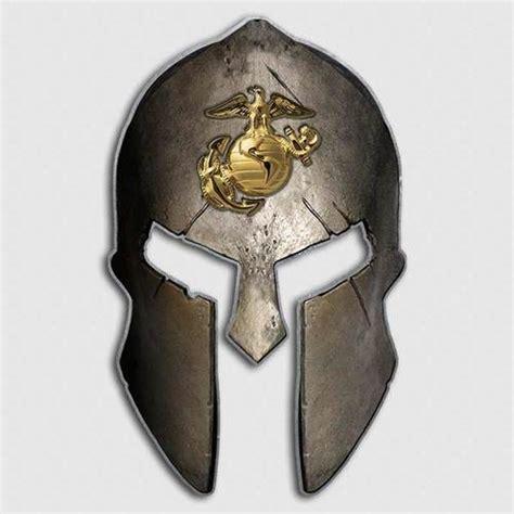 usmc marines spartan helmet decal united states military