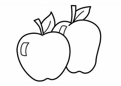 Coloring Apple Printable Fruits Clip Apples Mewarnai