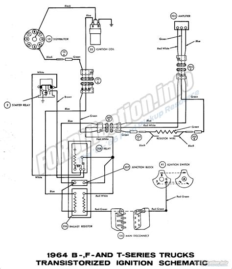 1966 Ford Galaxie Ignition Wiring Diagram by 1964 Ford Truck Wiring Diagrams Fordification Info The