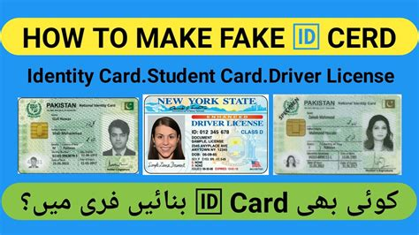 How To Make Fake Identity Card,cnic Card,credit Card