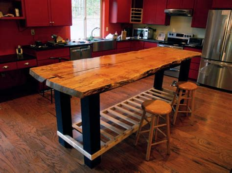 free standing kitchen island with seating handmade custom island table by jeffrey coleson and