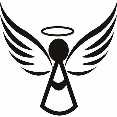 Angel Clipart Simple Clip Silhouette Designs