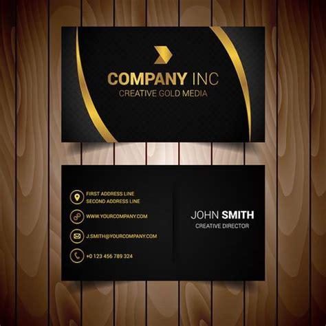 black  gold lined elegant business card