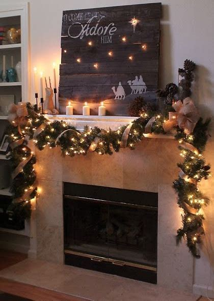 christmas garlands for fireplace garlands for stairs fireplaces and lights founterior
