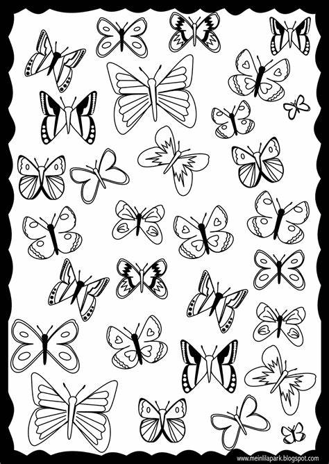 Butterfly coloring pages are fun and fantastic! Free printable butterfly coloring page - ausdruckbare ...