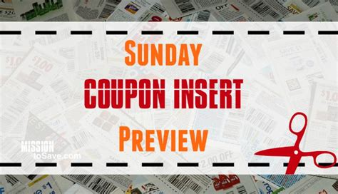 19933 Redplum Coupons Sunday Paper by Sunday Newspaper Coupon Inserts For 9 25 16 Mission