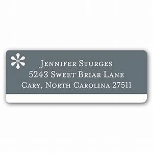 asterisk cool grey return address labels paperstyle With cool return address labels