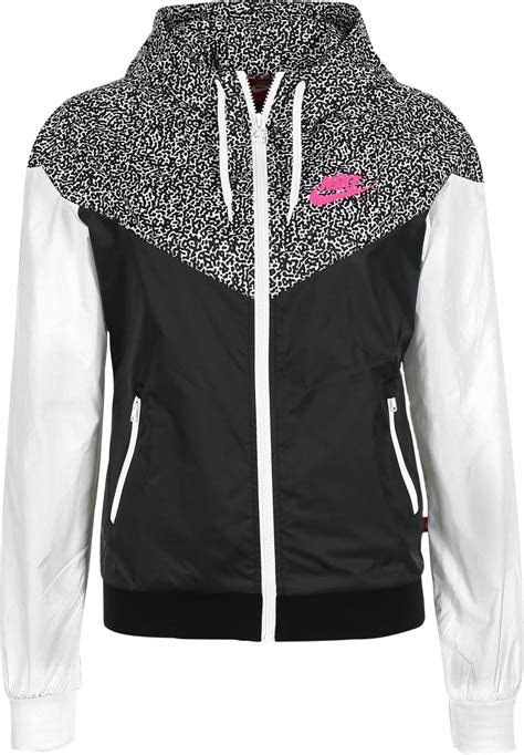 nike windrunner aop jacket nike windrunner aop w windbreaker black white