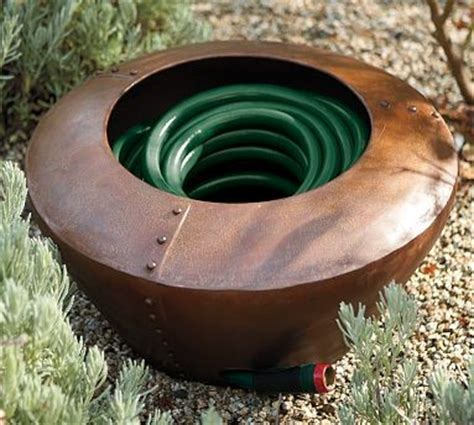 Decorative Garden Hose Pots - garden hose pot traditional indoor pots and planters