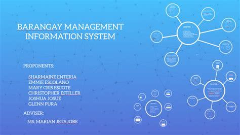 School Information System Thesis by Barangay Management Information System By Kujo Kazuya On Prezi